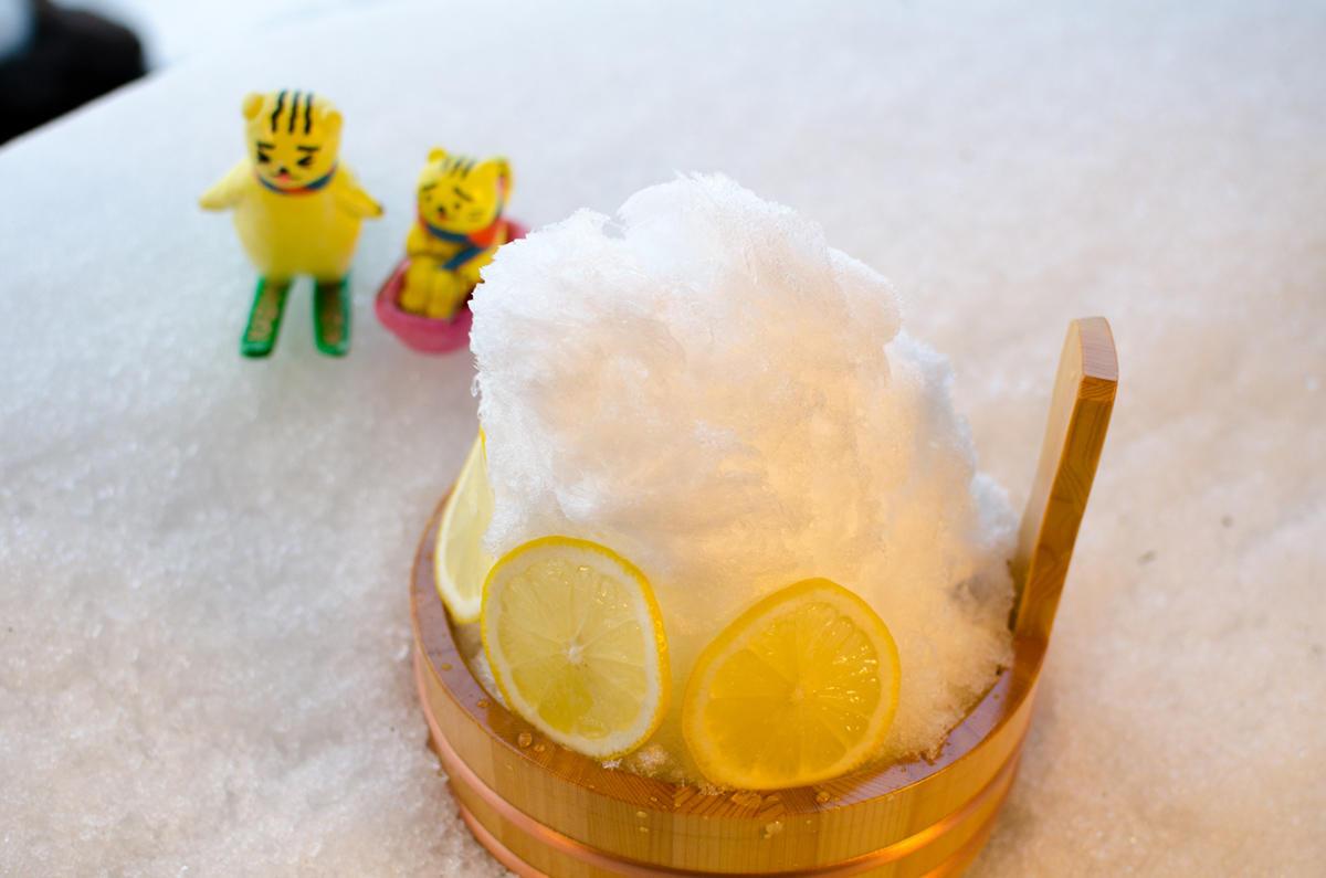 雪解け天然水でつくるかき氷